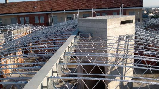 Realizzazione tetto di 800 mq